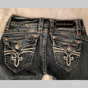 Rock Revival Stephanie Boot Leg Distressed Jeans
